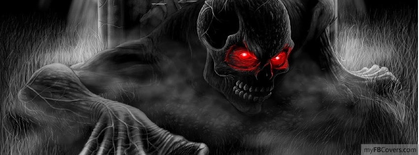 Red Eyed Skull Facebook Covers Myfbcovers