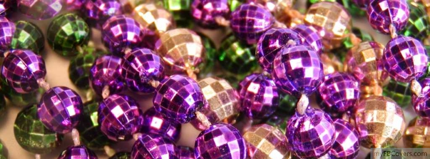 mardi gras beads facebook covers   myfbcovers