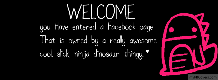 Cute Welcome Facebook Covers - myFBCovers