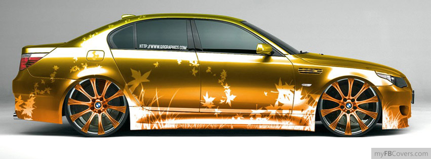Golden Car Facebook Covers Myfbcovers