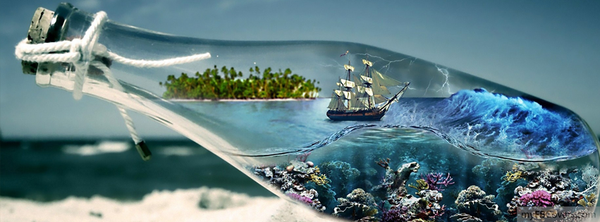 Ocean in a bottle facebook covers myfbcovers for Covers from the ocean