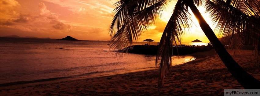 358c5a52894b Sunset on the Beach Facebook Covers - myFBCovers