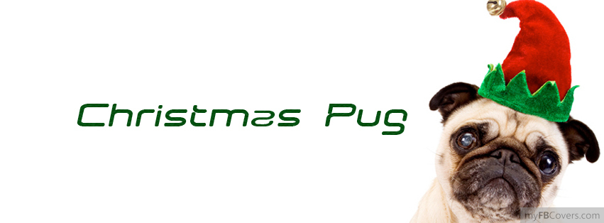 Christmas Pug Facebook Covers Myfbcovers