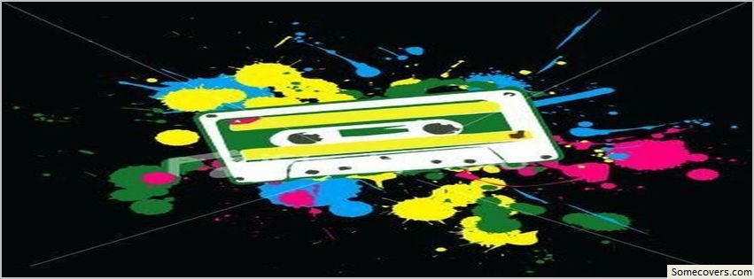 80s Tape Black Background Facebook Timeline Cover Facebook Covers Myfbcovers