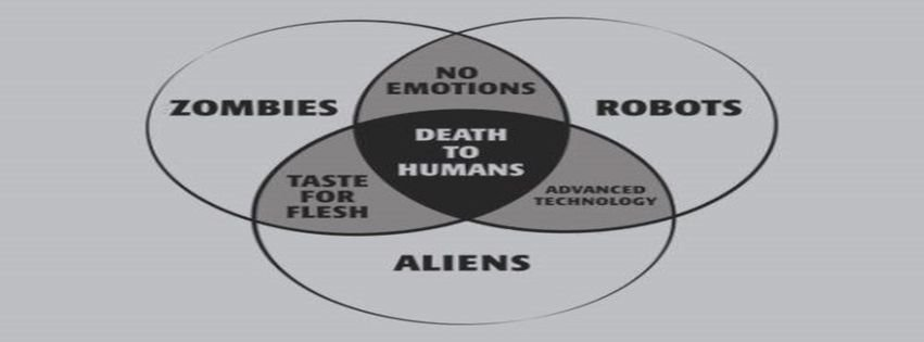 Robots vs Aliens Aliens Funny Robots Zombies