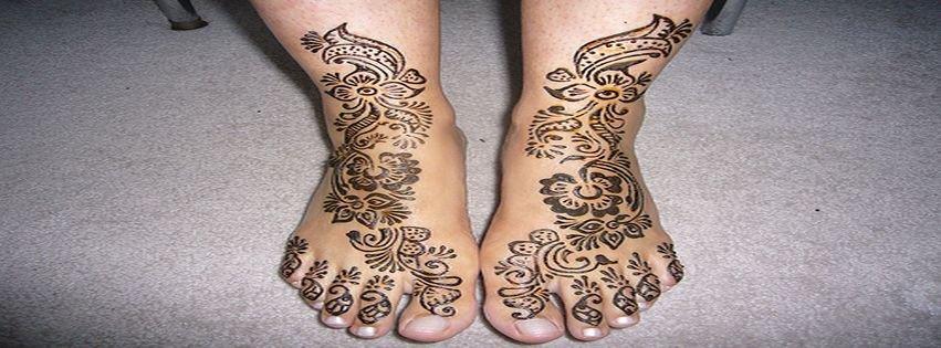 Mehndi Feet Facebook : Arabic henna mehndi designs for feet facebook covers