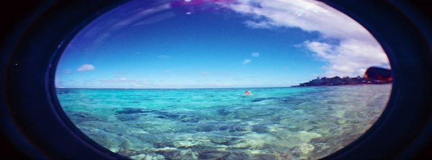 Beach Fish Eye Ocean Photography Summer Facebook Cover