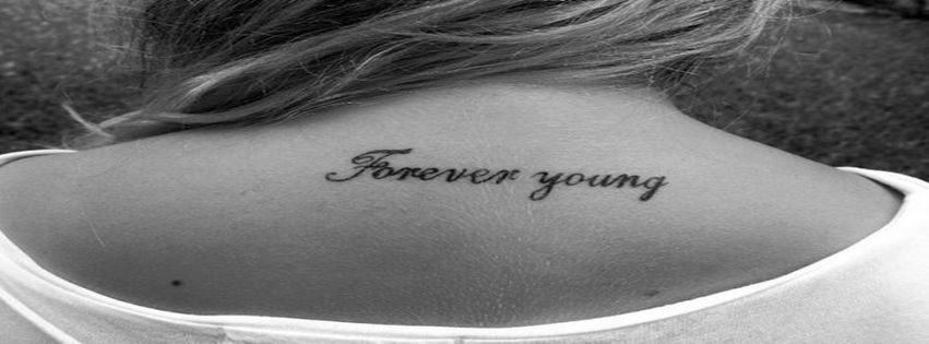 Black and white forever forever young tattoo young for Forever young in japanese tattoo