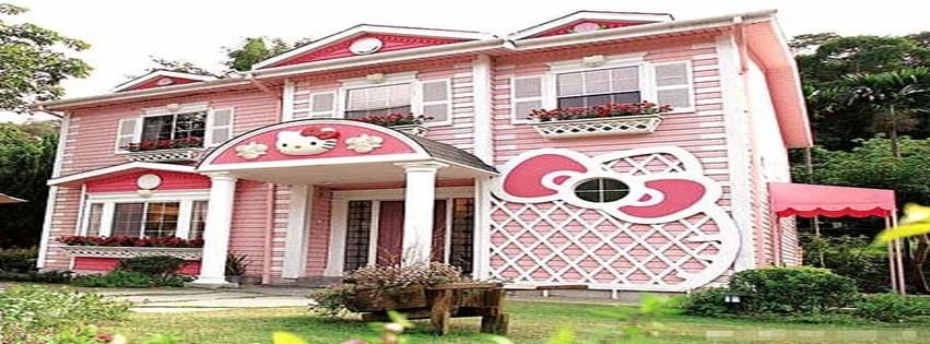 Hello Kitty Houses Real Houses facebook covers, timeline covers, facebook banners - myfbcovers