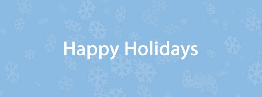 Covers Happy Holidays Red Facebook Covers - myFBCovers