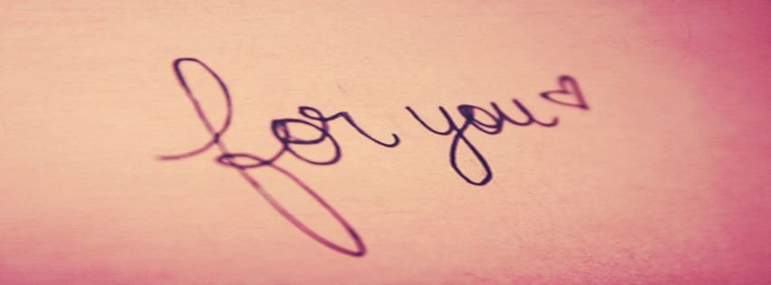 Cute Letters Pink Quote Facebook Covers Facebook Covers ...