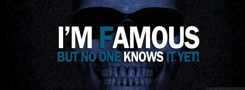 Am Famous Famous Funny Fb Covers Facebook