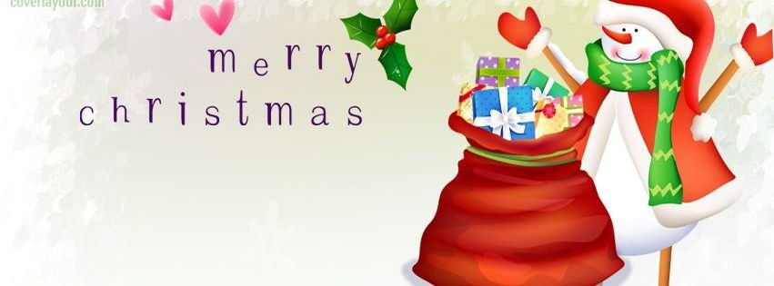 Merry Christmas Snowman Facebook Timeline Covers Facebook ...