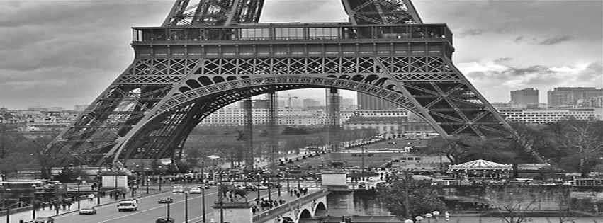 Paris Beautiful Photography Black And White Facebook Cover