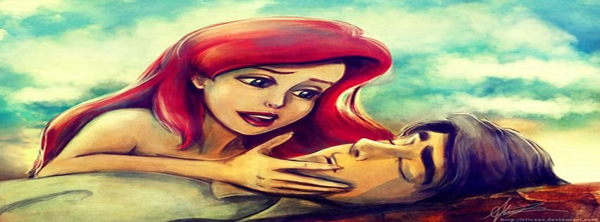 Ariel Eric Little Mermaid Love Princess Facebook Covers ...