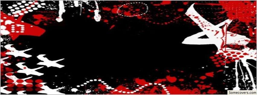 blackwhite red design facebook timeline cover facebook