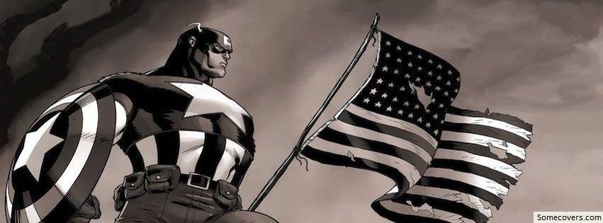 Captain America American Flag Facebook Cover Photo14