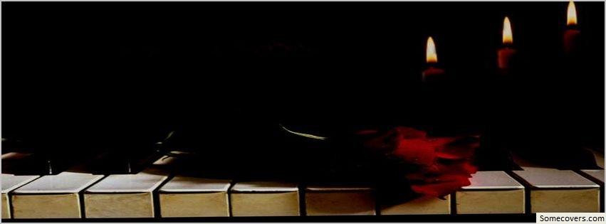 Dark rose keys music facebook timeline cover