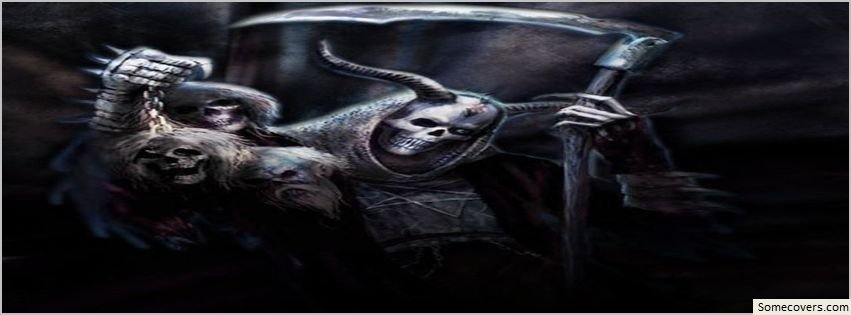 Dark Fantasy Facebook Covers: Evil Reaper Dark Fantasy Facebook Timeline Cover25