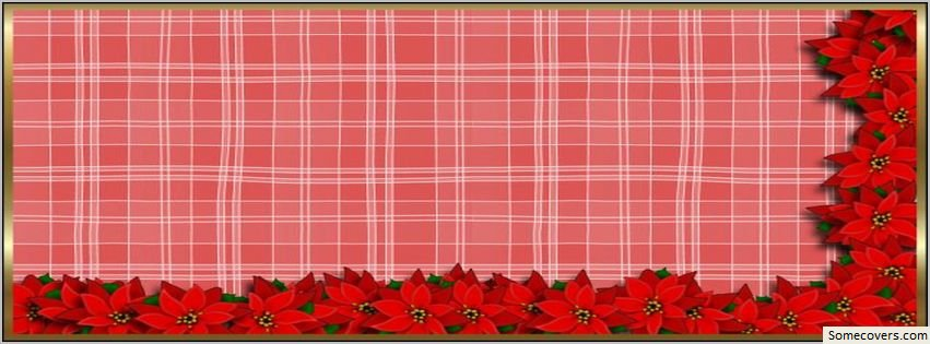 Cookbook Red Checkered Cover ~ Face book cover red plaid christmas flowers facebook