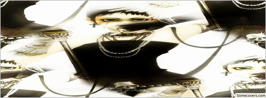 Pretty Book Cover Generator ~ Face book cover skull girl model pretty facebook covers