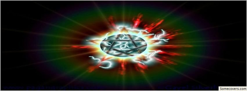 Face Book Covers Wiccan Pentagram Rays Star Facebook