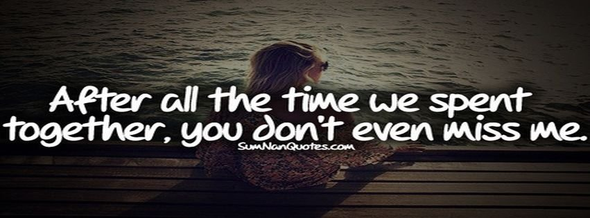 Girl Alone Love Sad Sumnanquotes Facebook Covers - myFBCovers