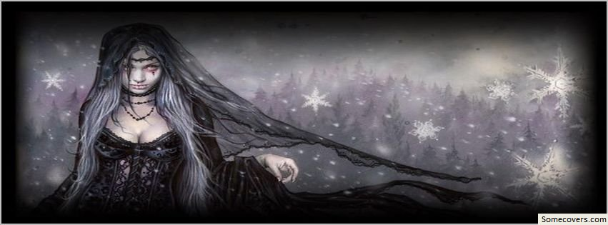 Dark Fantasy Facebook Covers: Goth Bride Dark Fantasy Facebook Timeline Cover Facebook