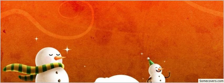 Laughing christmas snowmen facebook timeline cover