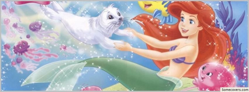 little mermaid and friends 1 facebook timeline cover