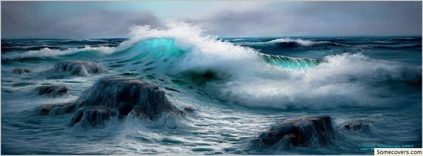 Merkiss water ocean blue facebook timeline cover facebook for Covers from the ocean