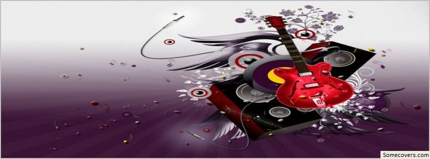 My Guitar Music Red Facebook Timeline Cover Facebook ...
