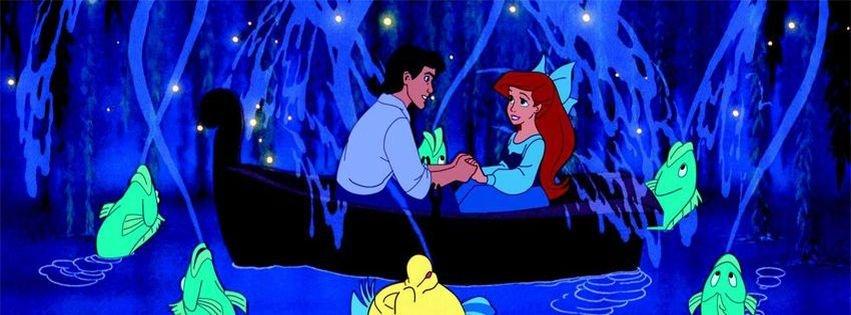 the little mermaid ariel kiss facebook covers facebook